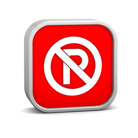 No Parking sign on a white background. Part of a series. Stock Photo - 15825308