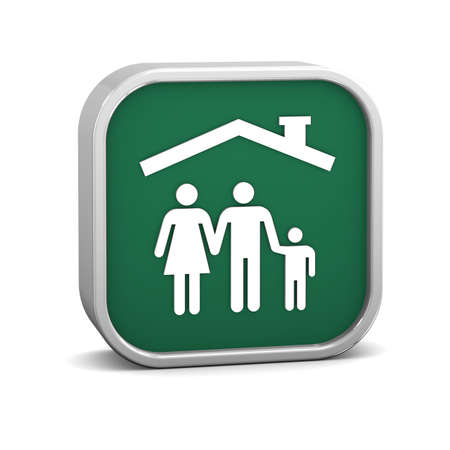 Family protection sign on a white background. Part of a series. Stock Photo - 16378680