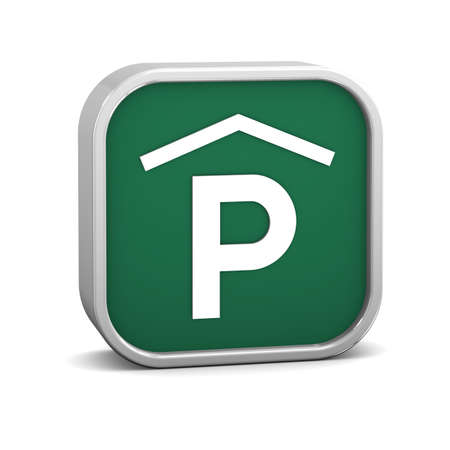 Indoor parking sign on a white background. Part of a series. Stock Photo - 16378670