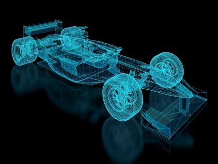 Formula One Mesh. Teil einer Reihe. Standard-Bild - 16595086