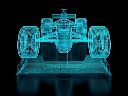 Formula racing car  photo