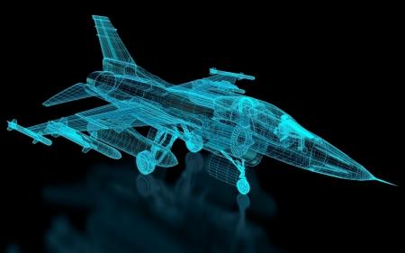 Jet Fighter Aircraft Mesh. Teil einer Reihe. Standard-Bild - 16606619