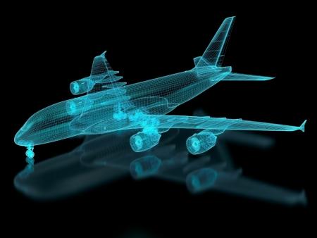 Commercial Aircraft Mesh. Teil einer Reihe. Standard-Bild - 17534703