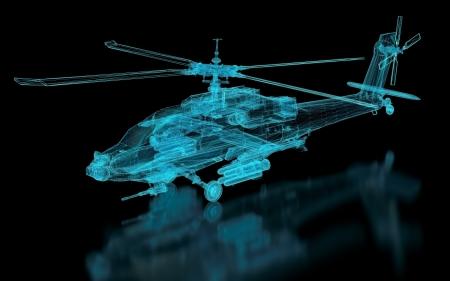 Helicopter Mesh. Teil einer Reihe. Standard-Bild - 17534701