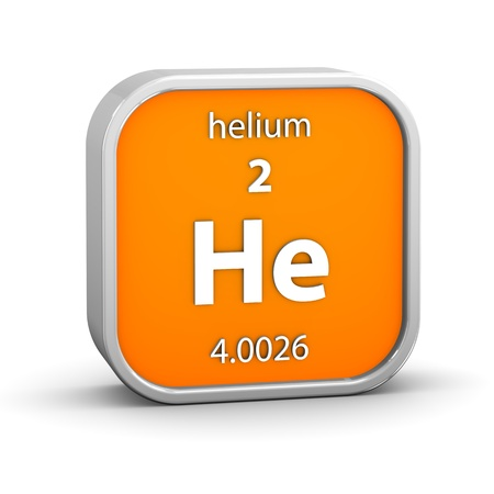 Helium material on the periodic table. Part of a series. photo