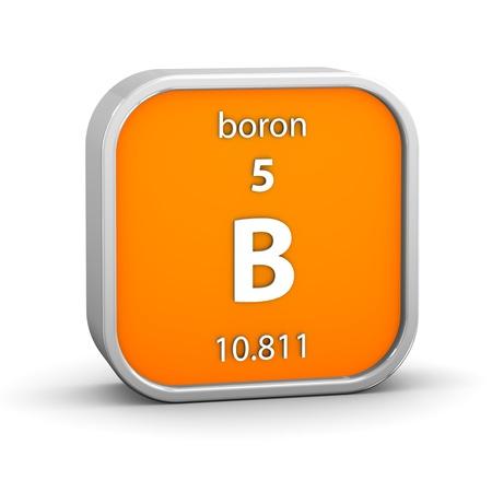 boro: Boron material en la tabla peri�dica. Parte de una serie. Foto de archivo