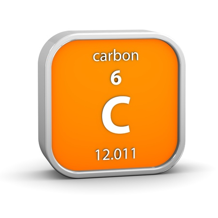 periodic: Carbon material on the periodic table. Part of a series.