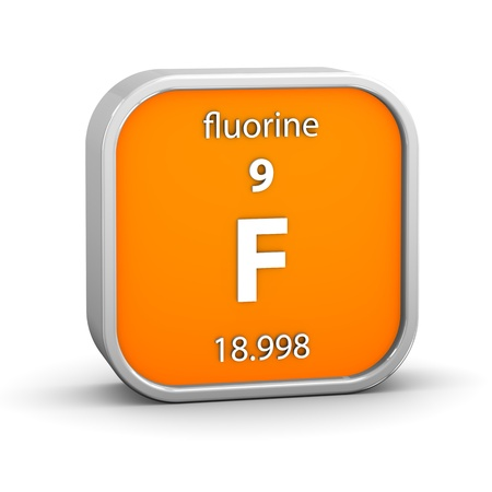 fluorine: Fluorine material on the periodic table. Part of a series.