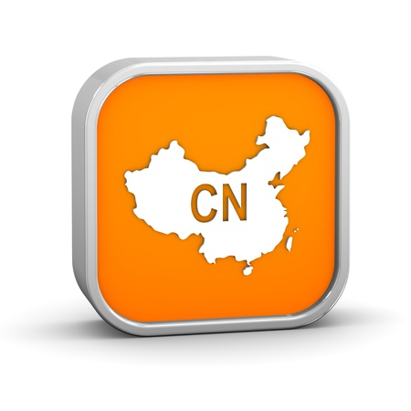 china map: International country code sign - China. Part of a series.