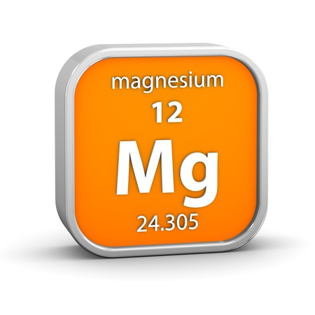 periodic: Magnesium material on the periodic table. Part of a series.
