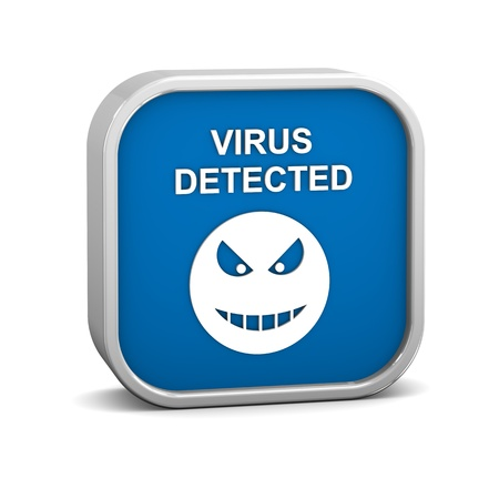 adware: Virus Detected Sign on a white background  Part of a series