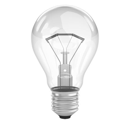 filaments: Light bulb isolated on a white background