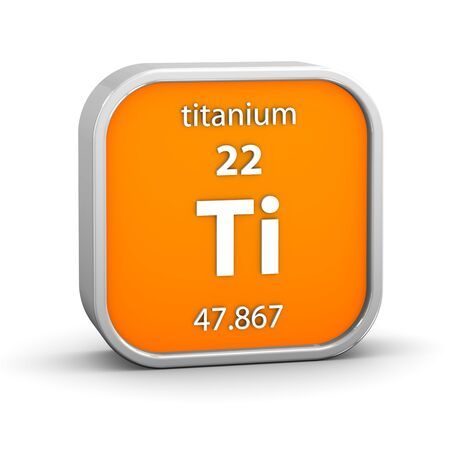 periodic: Titanium material on the periodic table. Part of a series.