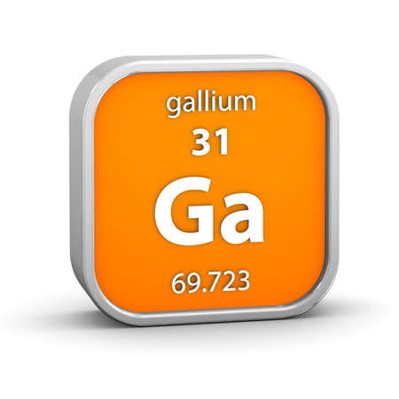 affinity: Gallium material on the periodic table. Part of a series. Stock Photo