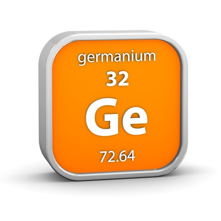 Germanium Material On The Periodic Table Part Of A Series Stock