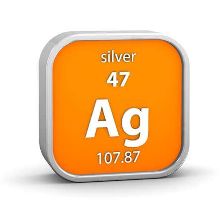 Silver material on the periodic table. Part of a series. Stock Photo - 18860993
