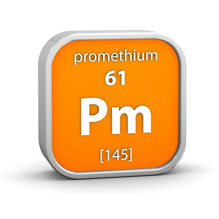 affinity: Promethium material on the periodic table  Part of a series