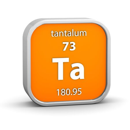 Tantalum material on the periodic table  Part of a series  Stock Photo - 18861006