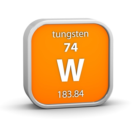 Tungsten material on the periodic table  Part of a series Stock Photo - 18861016
