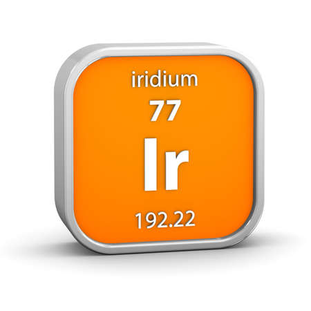 affinity: Iridium material on the periodic table  Part of a series