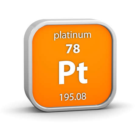 Platinum material on the periodic table  Part of a series  photo