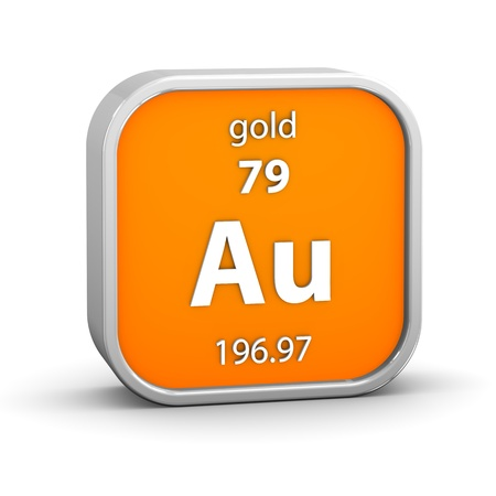 periodic: Gold material on the periodic table  Part of a series