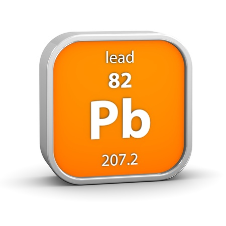 affinity: Lead material on the periodic table. Part of a series.