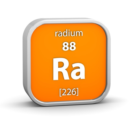 Radium material on the periodic table. Part of a series. Stock Photo - 18860996