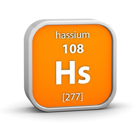 Hassium material on the periodic table  Part of a series Stock Photo - 18861009