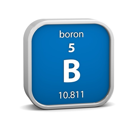 boro: Material de boro en la tabla peri�dica. Parte de una serie. Foto de archivo