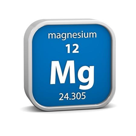 Magnesium Material im Periodensystem. Teil einer Reihe. Standard-Bild - 19127455