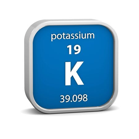 potassium: Potassium material on the periodic table. Part of a series.
