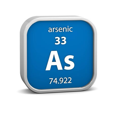 Arsenic material on the periodic table. Part of a series. photo
