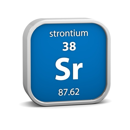Strontium Material On The Periodic Table Part Of A Series Stock