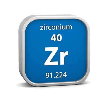 affinity: Zirconium material on the periodic table. Part of a series.