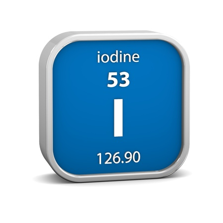 iodine: Iodine material on the periodic table. Part of a series.