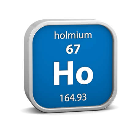 affinity: Holmium material on the periodic table. Part of a series.