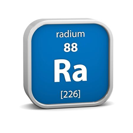 Radium material on the periodic table. Part of a series. photo