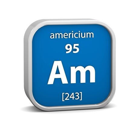 affinity: Americium material on the periodic table. Part of a series.