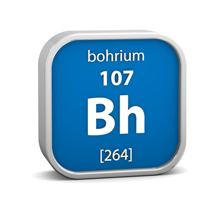 affinity: Bohrium material on the periodic table. Part of a series.
