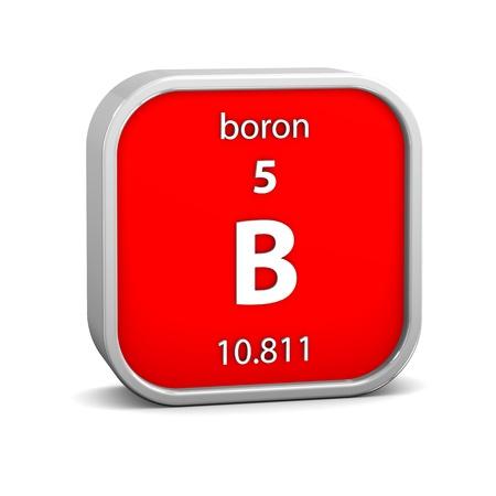 boro: Boron material en la tabla peri?dica. Parte de una serie.