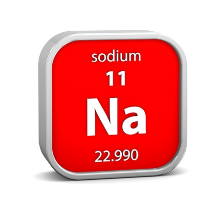 Sodium material on the periodic table. Part of a series. photo