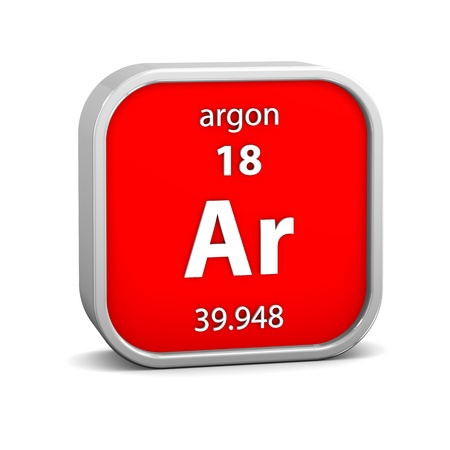 Argon material on the periodic table. Part of a series. photo