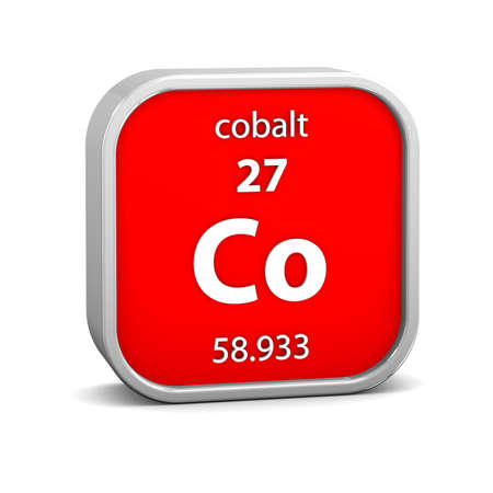 Cobalt material on the periodic table. Part of a series. photo