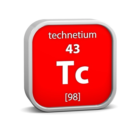 Technetium material on the periodic table. Part of a series. photo