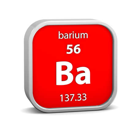 Barium material on the periodic table. Part of a series. photo