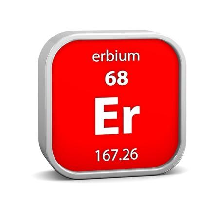 symbole chimique: mat?riau de l'erbium dans le tableau p?riodique. Partie d'une s?rie.