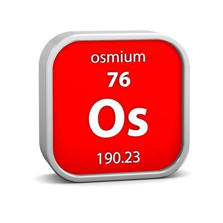 symbole chimique: mati?re d'osmium dans le tableau p?riodique. Partie d'une s?rie.