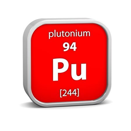 Plutonium material on the periodic table. Part of a series.