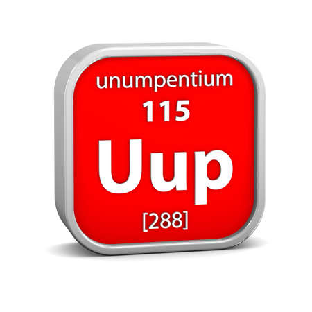 affinity: Unumpentium material on the periodic table. Part of a series. Stock Photo
